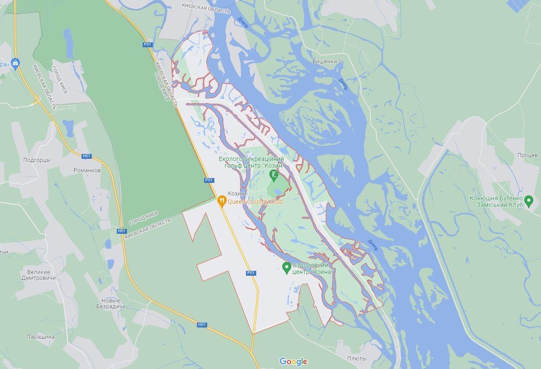 Инцидент произошел в Козине на Киевщине.