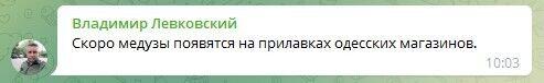 Люди шутят по поводу медуз в Одессе