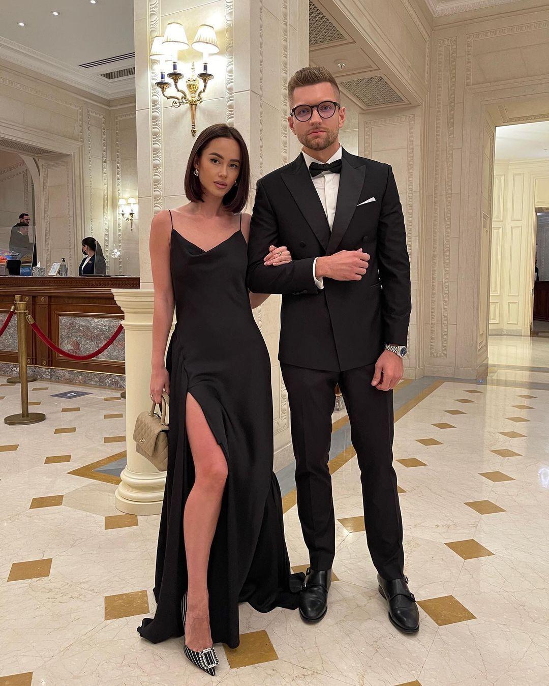 Таня Парфильева с мужем на премии