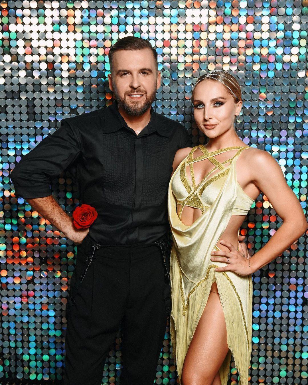 Яна Цибульская танцевала с Сергеем Танчинцем.
