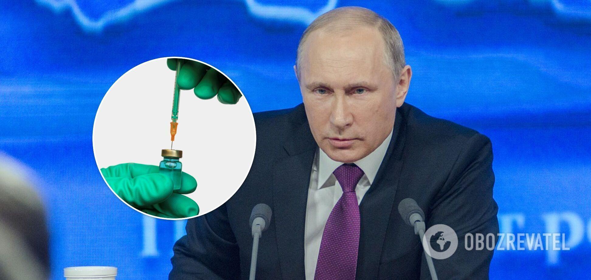 Путин вакцинировался против коронавируса в марте