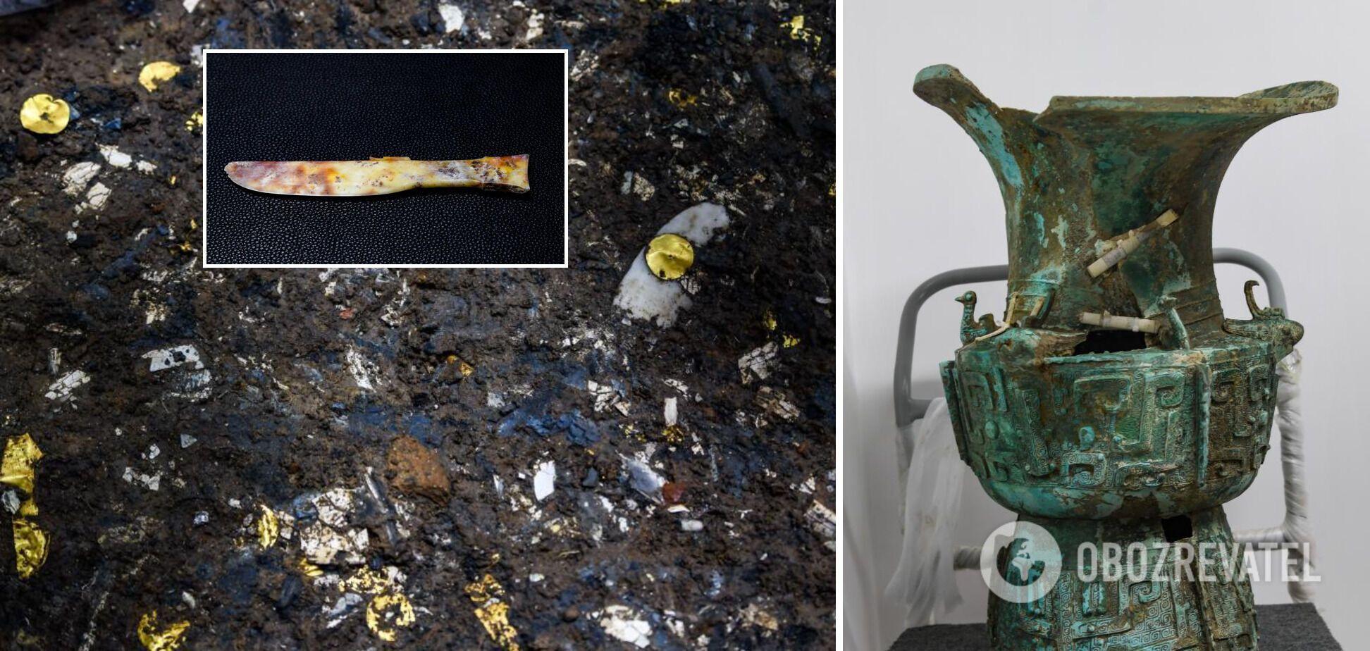 Другие артефакты, которые нашли в жертвенных ямах Саньсиндуй