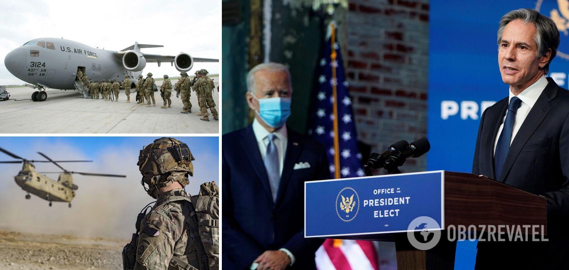 Блінкен назвав правильним рішення Байдена про виведення військ США з Афганістану