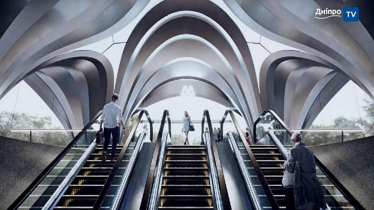 Так може виглядати вхід у метро на Європейській площі.