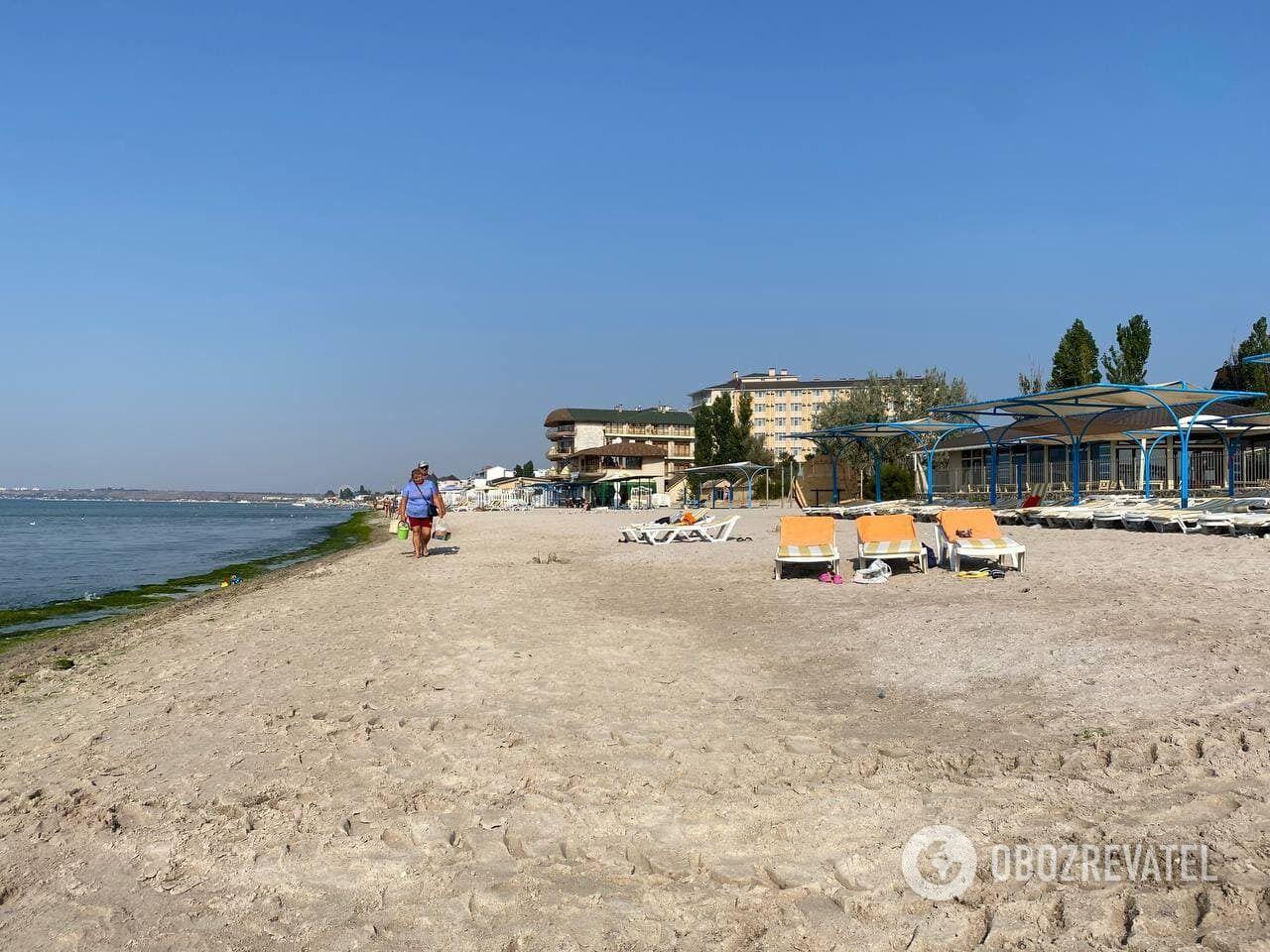 Пляж в Коблево в сентябре 2021