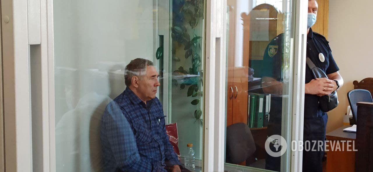 Захаренко в камері для взятих під варту.