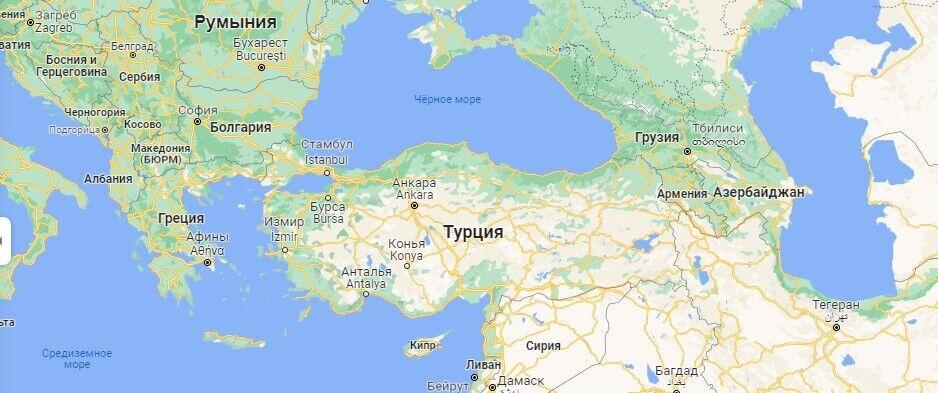 Туреччина на мапі