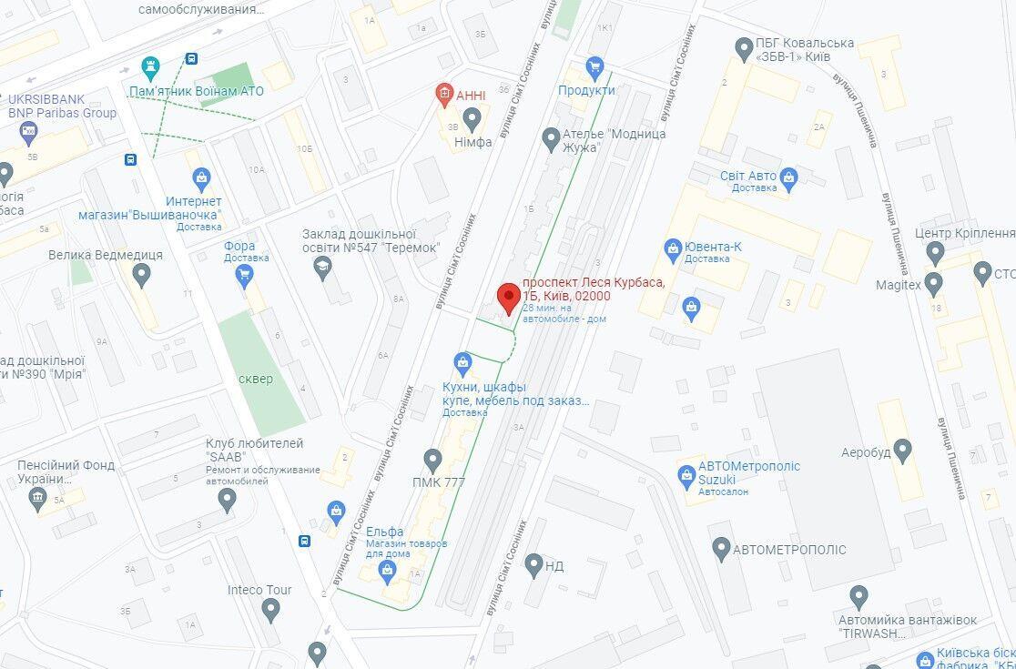 Инцидент произошел в Святошинском районе столицы.