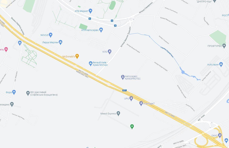 Авария произошла на Кольцевой дороге.