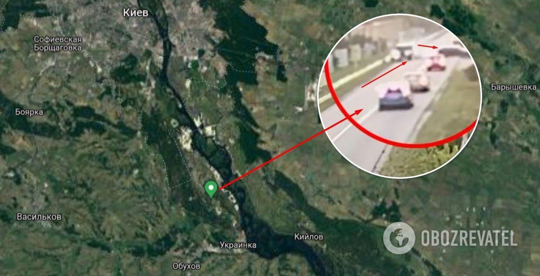 ДТП произошло в пгт Козин под Киевом