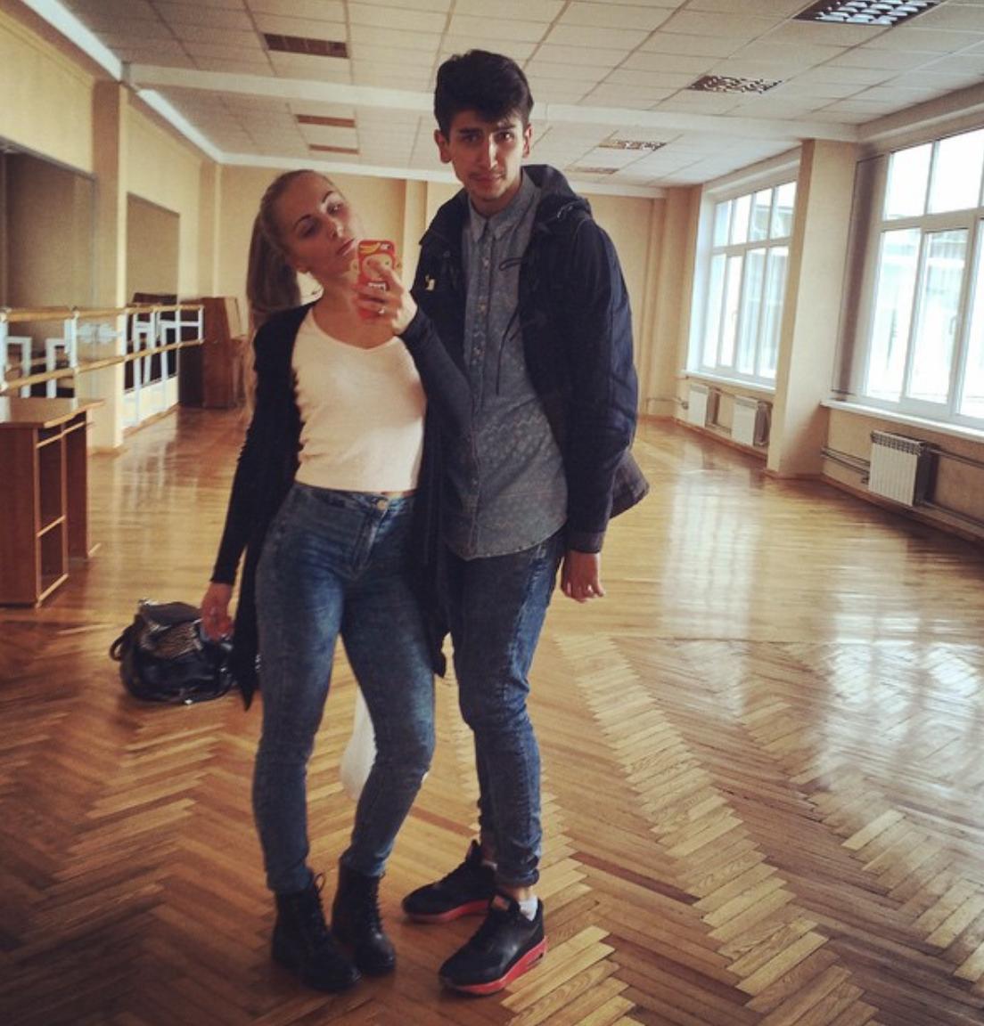 Яна Цибульская и Дмитрий Жук в университете.