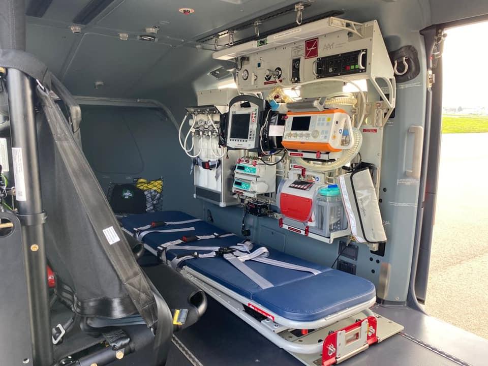 Ляшко оглянув парк вертольотів, які використовуються для аеромедичної евакуації пацієнтів