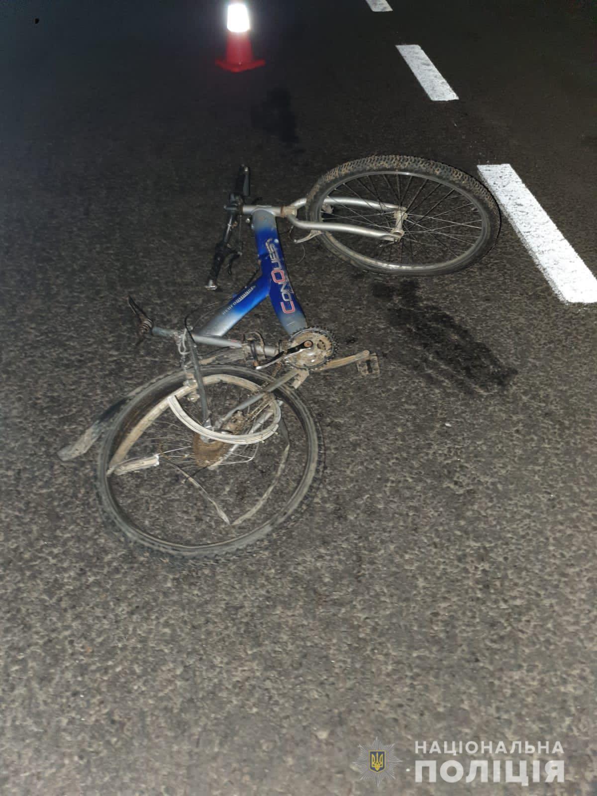 Водитель совершил наезд на велосипедиста между населенными пунктами Заречье и Ольховка .