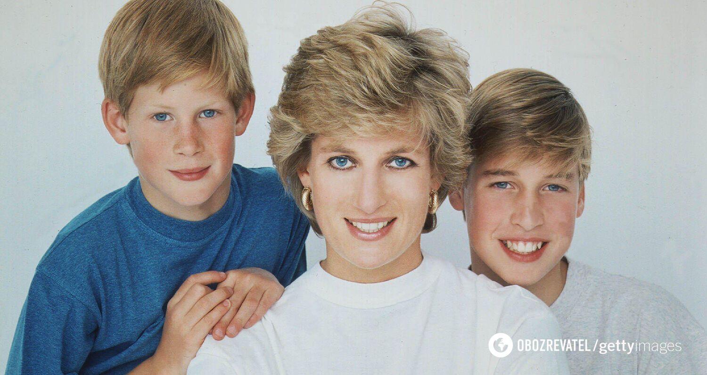 Принц Гаррі, принц Вільям і принцеса Діана