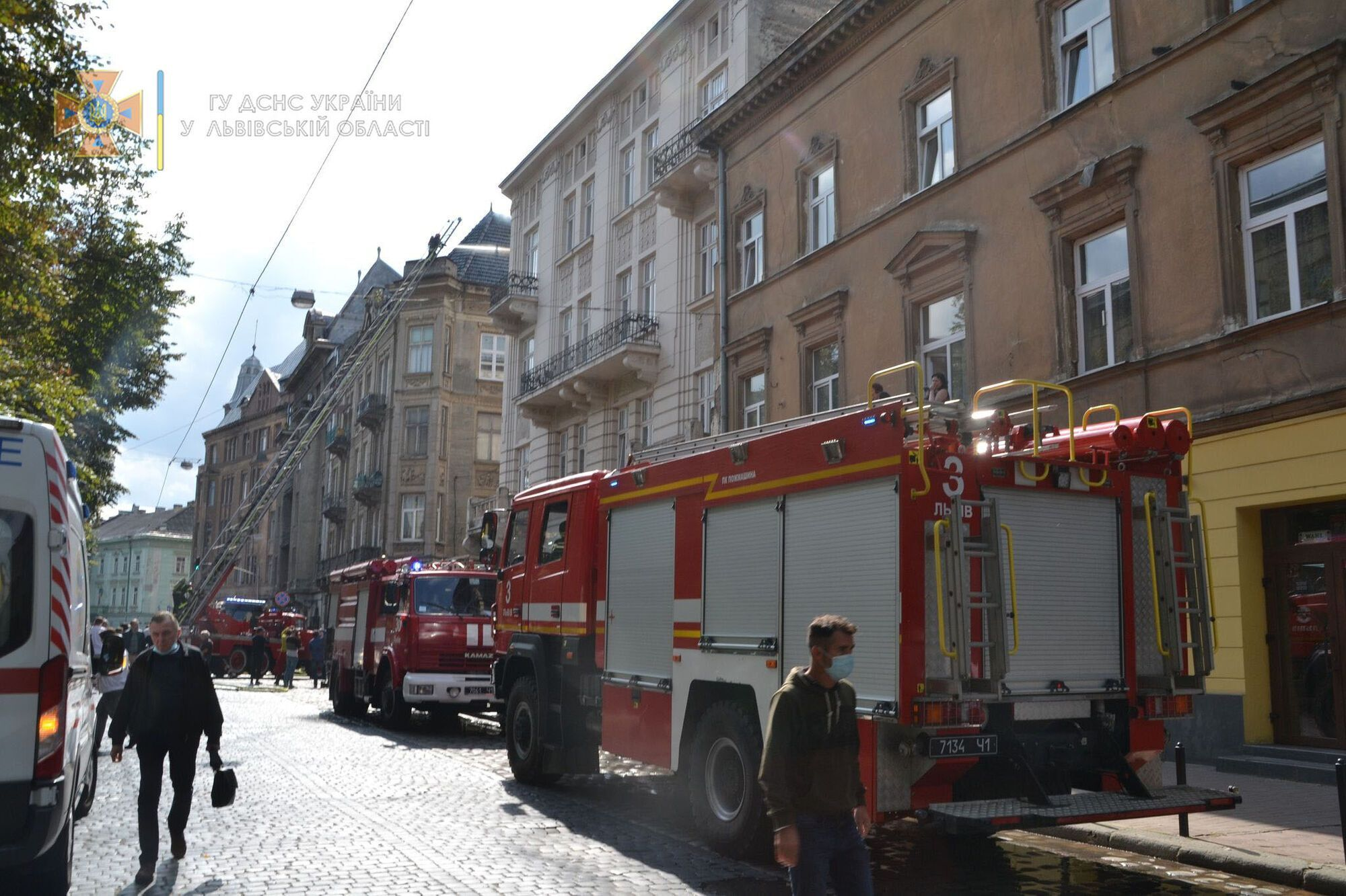 Пожежа на вулиці Князя Романа, 32