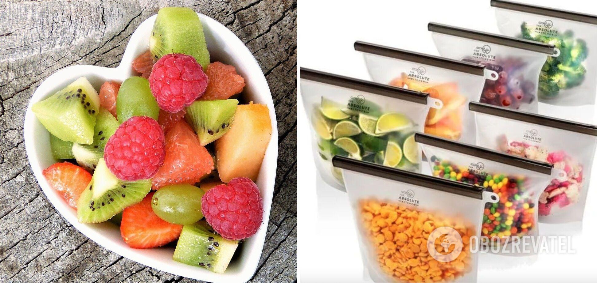 Многоразовые пакеты для овощей и фруктов