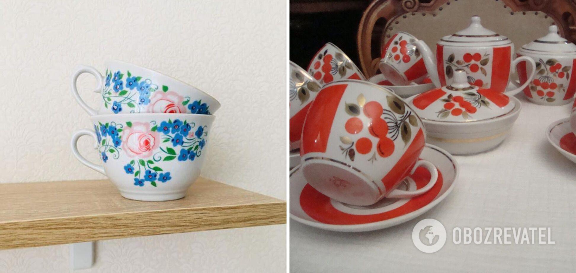Фарфоровая посуда с росписью снова стала популярной.