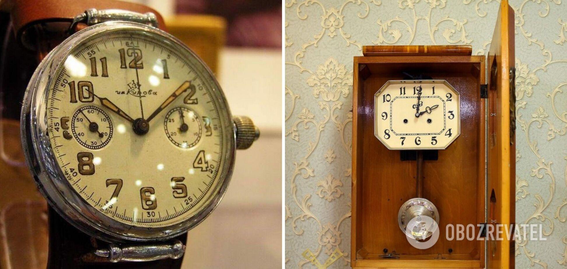 Часы времен СССР дорого стоят.