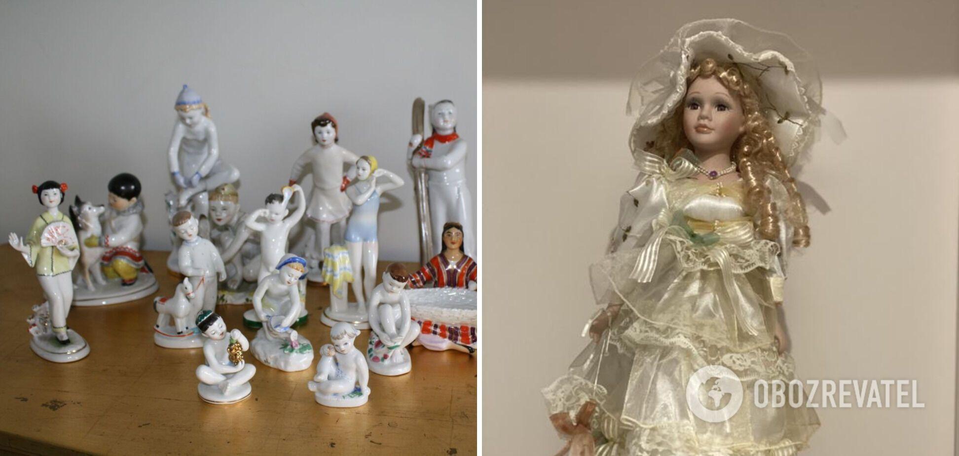 Фарфоровые статуэтки дорого стоят.