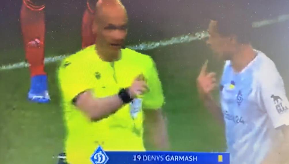 Гармаш був здивований, побачивши перед собою червону картку