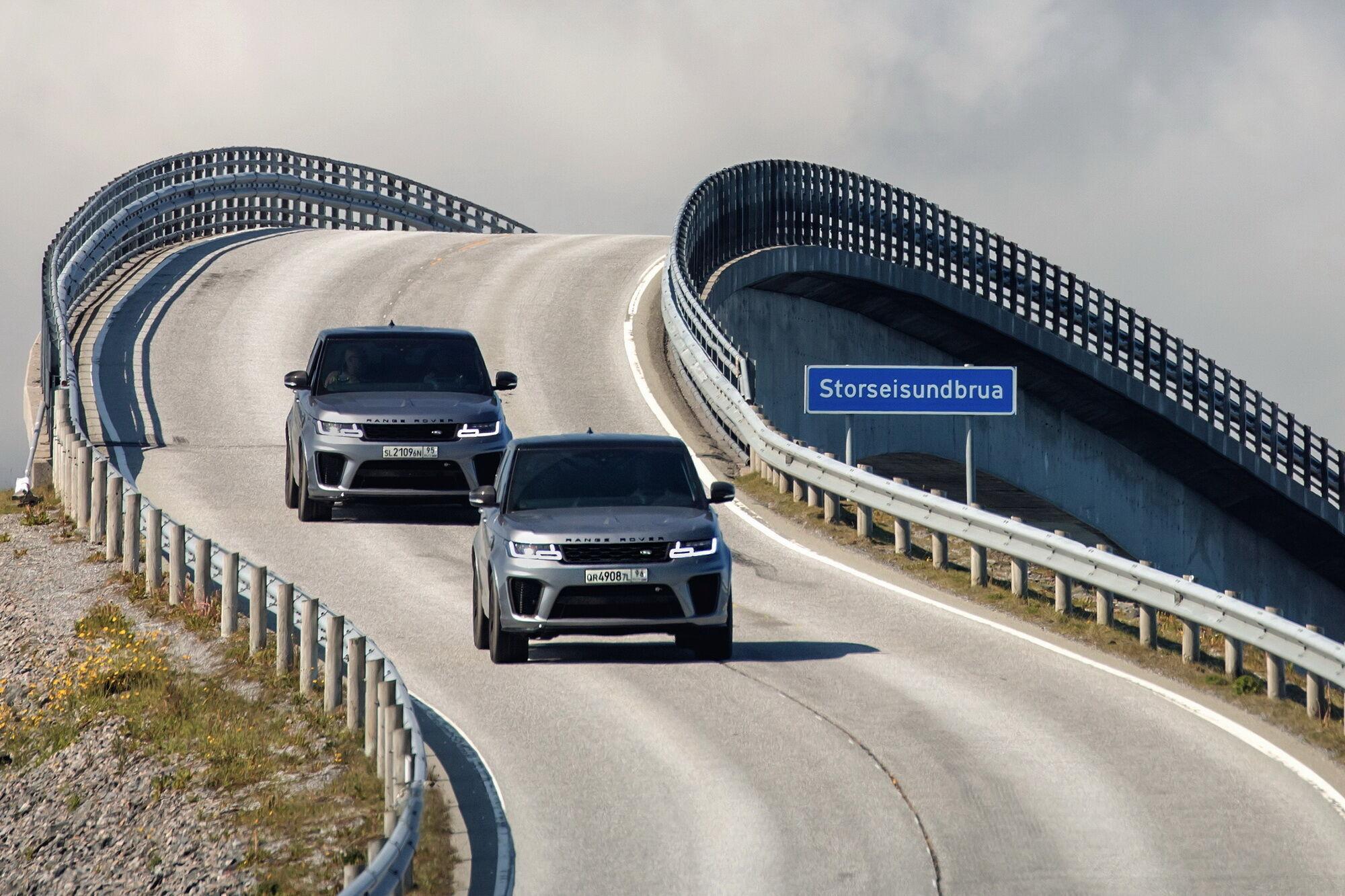 Range Rover Sport SVR оснащен 575-сильным V8 с наддувом
