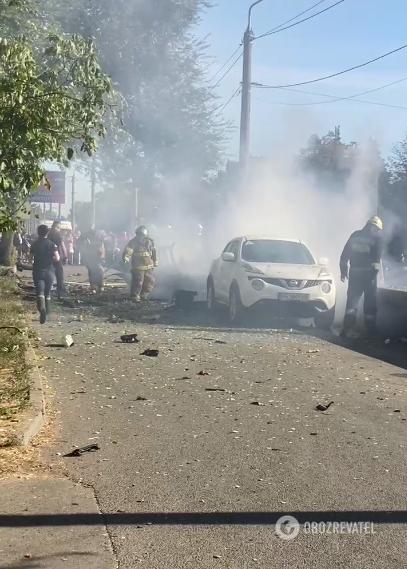 Машину погасили.