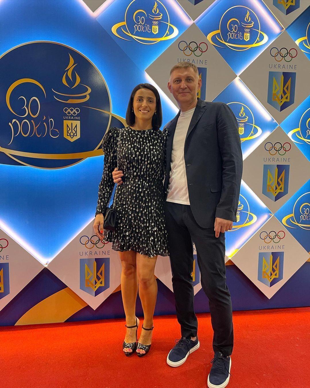 Яна Шемякіна з чоловіком.