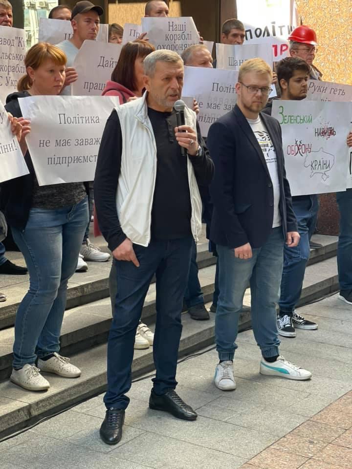 Ахтем Чийгоз на акции протеста