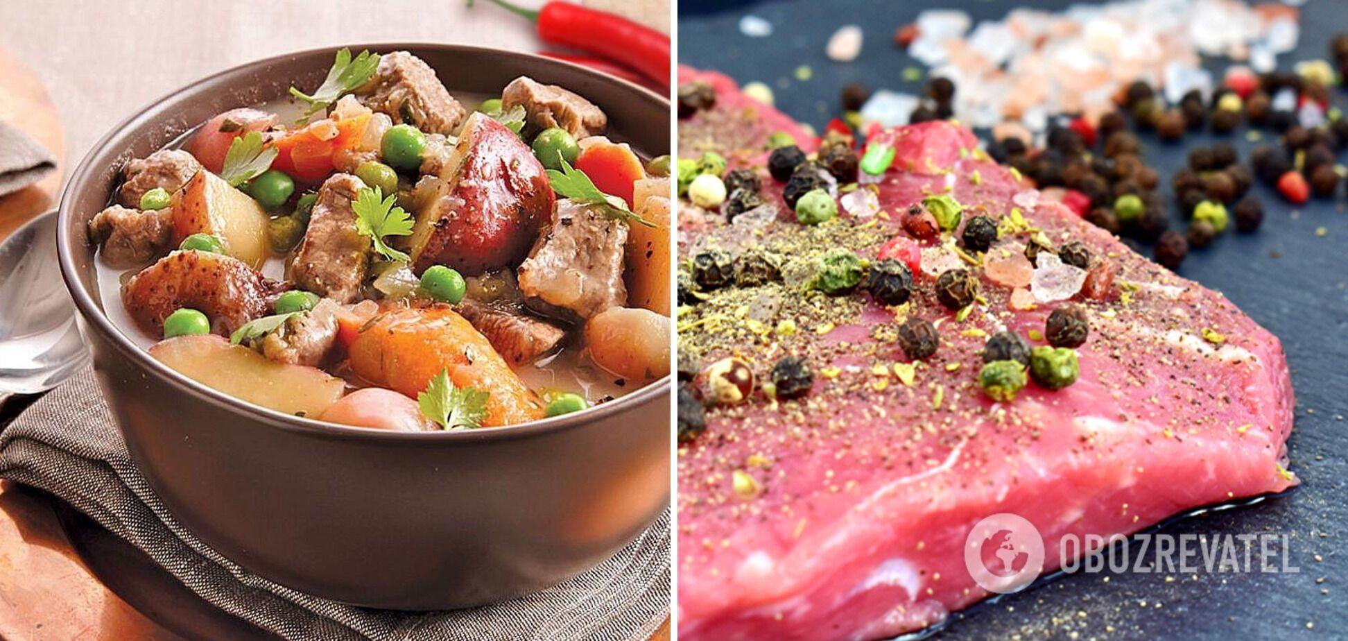 Сытная картофель с мясом