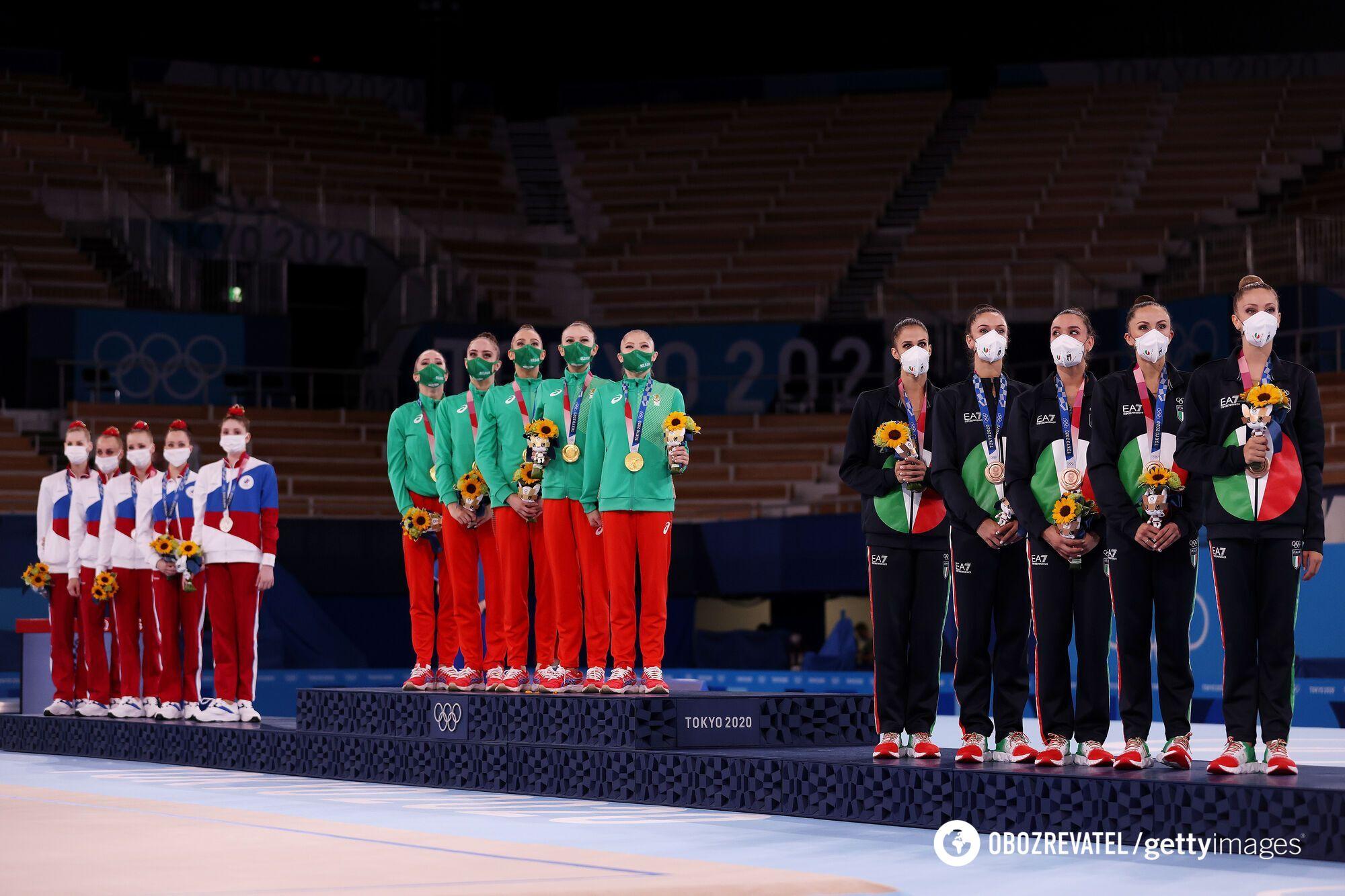 Подиум на Олимпиаде