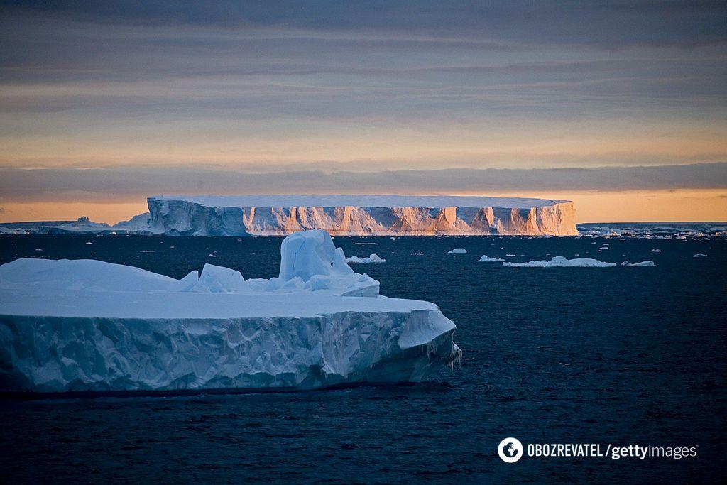 Таяние ледников на Южном полюсе