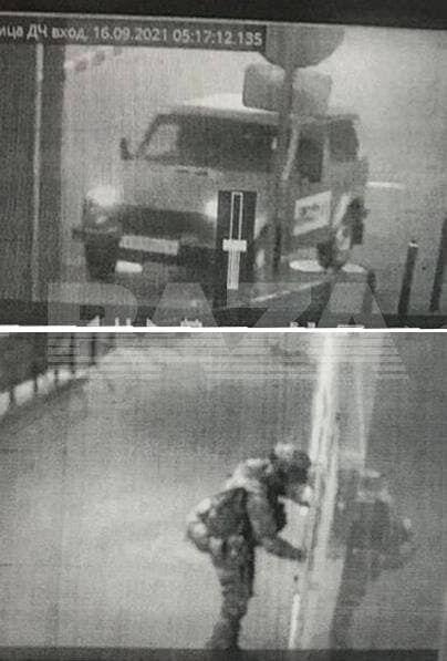 Перші хвилини нападу на відділ поліції в місті Лиски