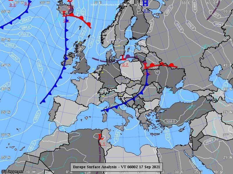 Карта атмосферных фронтов