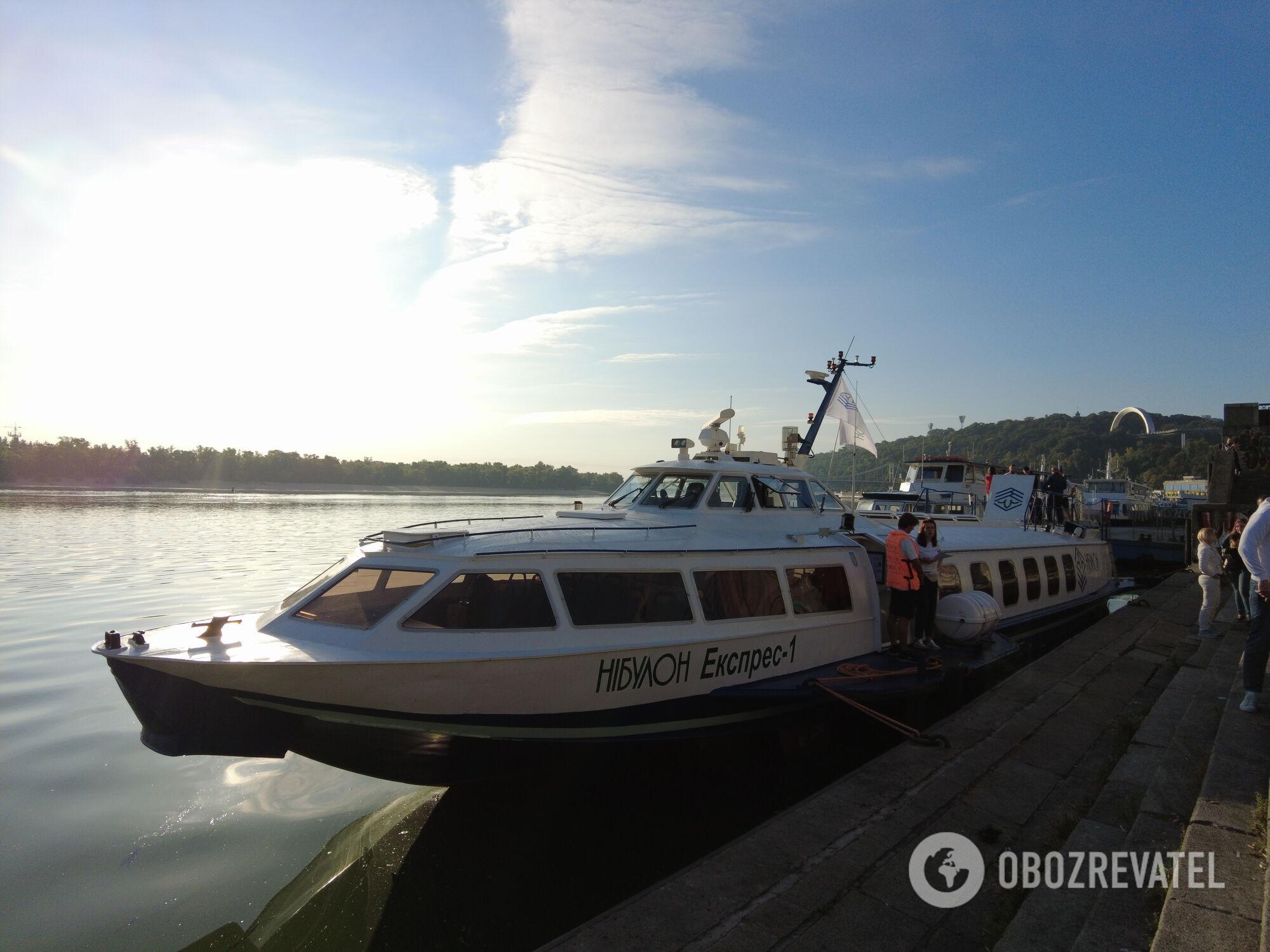 Судно проекту ''Схід'' на Київському річковому вокзалі 16 вересня 2021 року