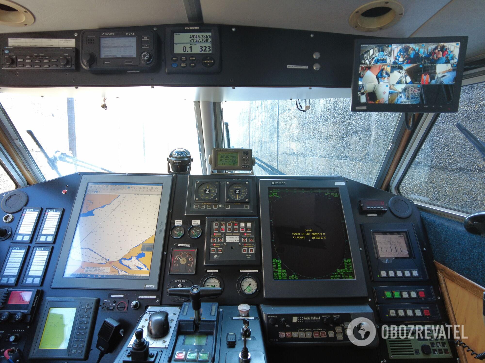 Рубка капітана судна ''Нібулон Експрес-1'' оснащена новітнім обладнанням