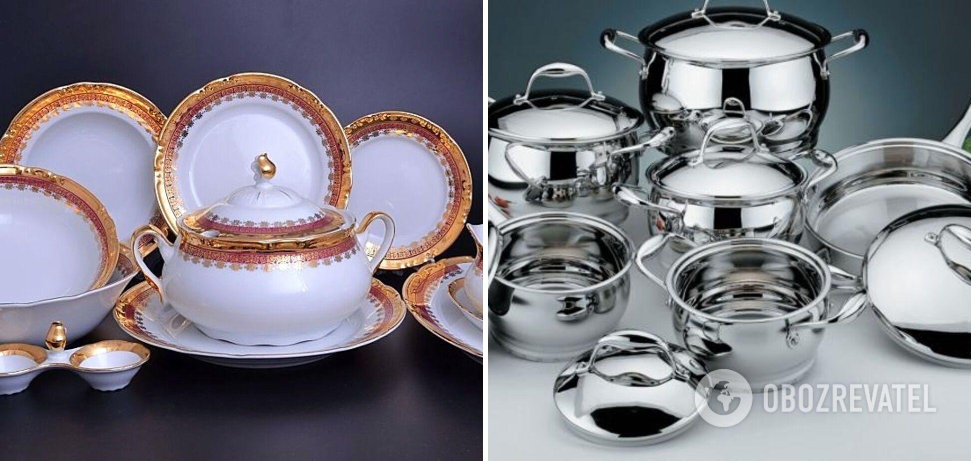 Металевий та декорований посуд