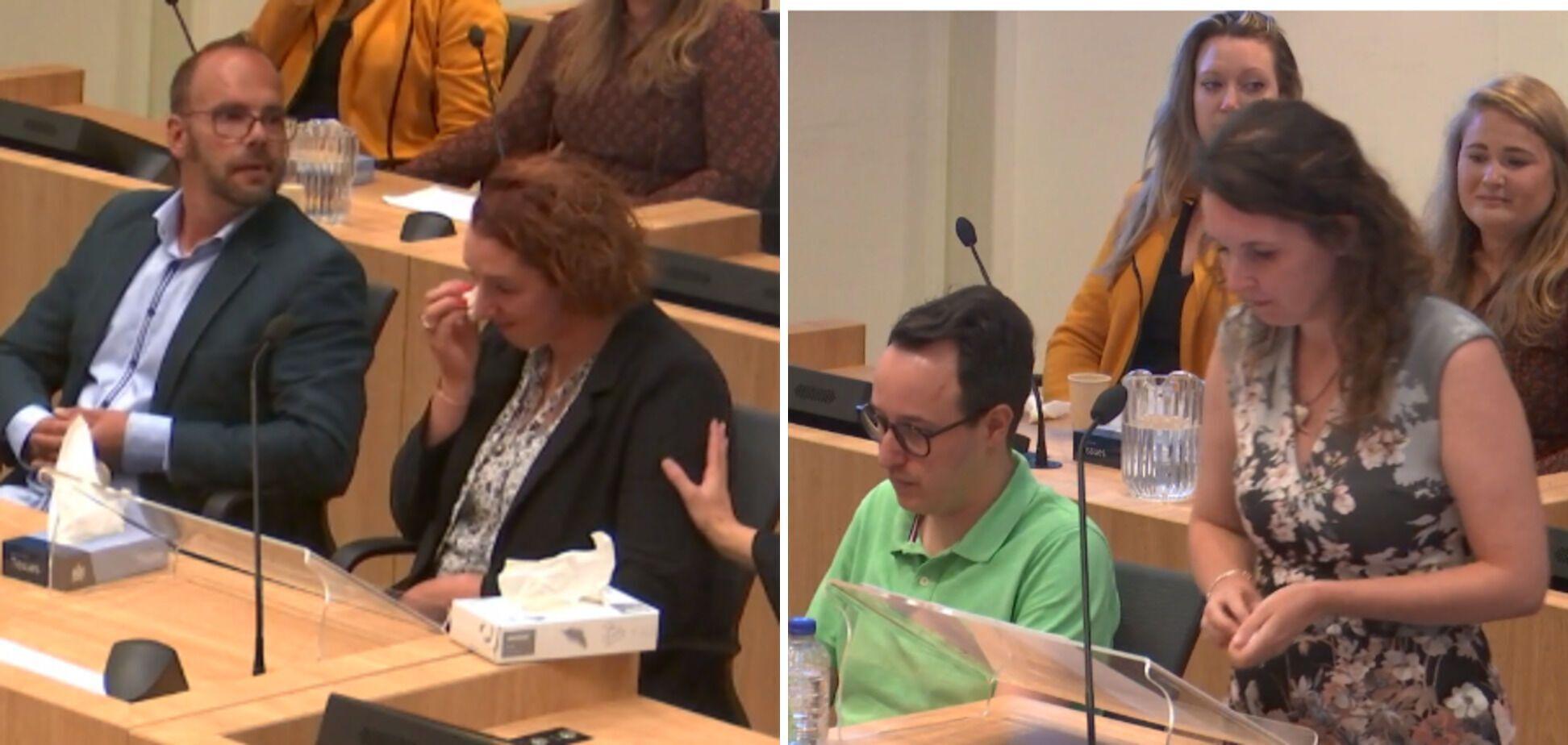 Сестри Камфферман виступають на суді в Гаазі