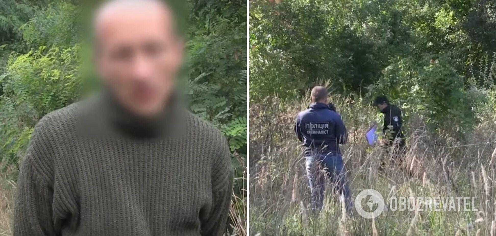 Сергій Бєлий на місці злочину