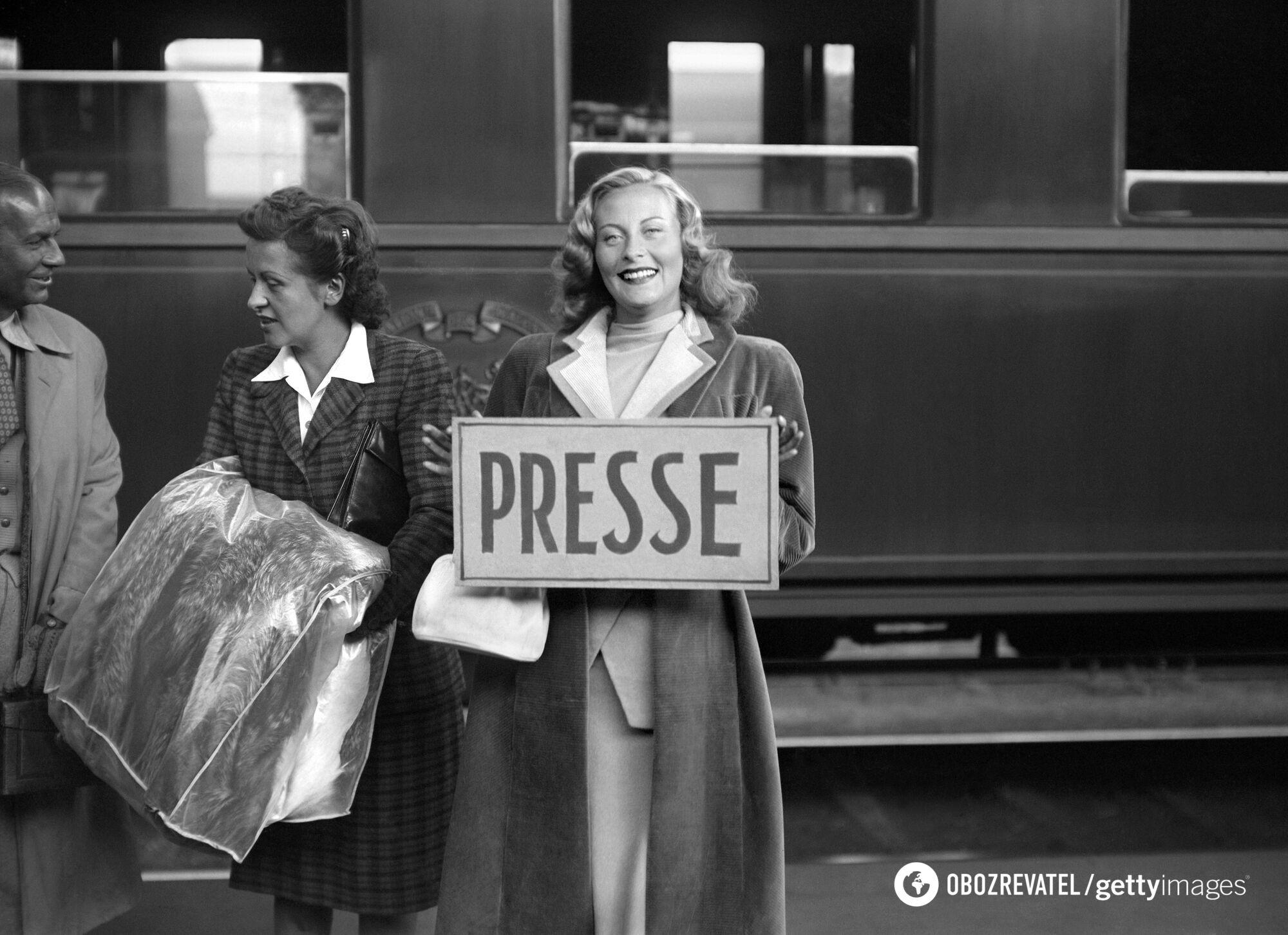 Актриса Мишель Морган на Каннском фестивале в 1946 году.