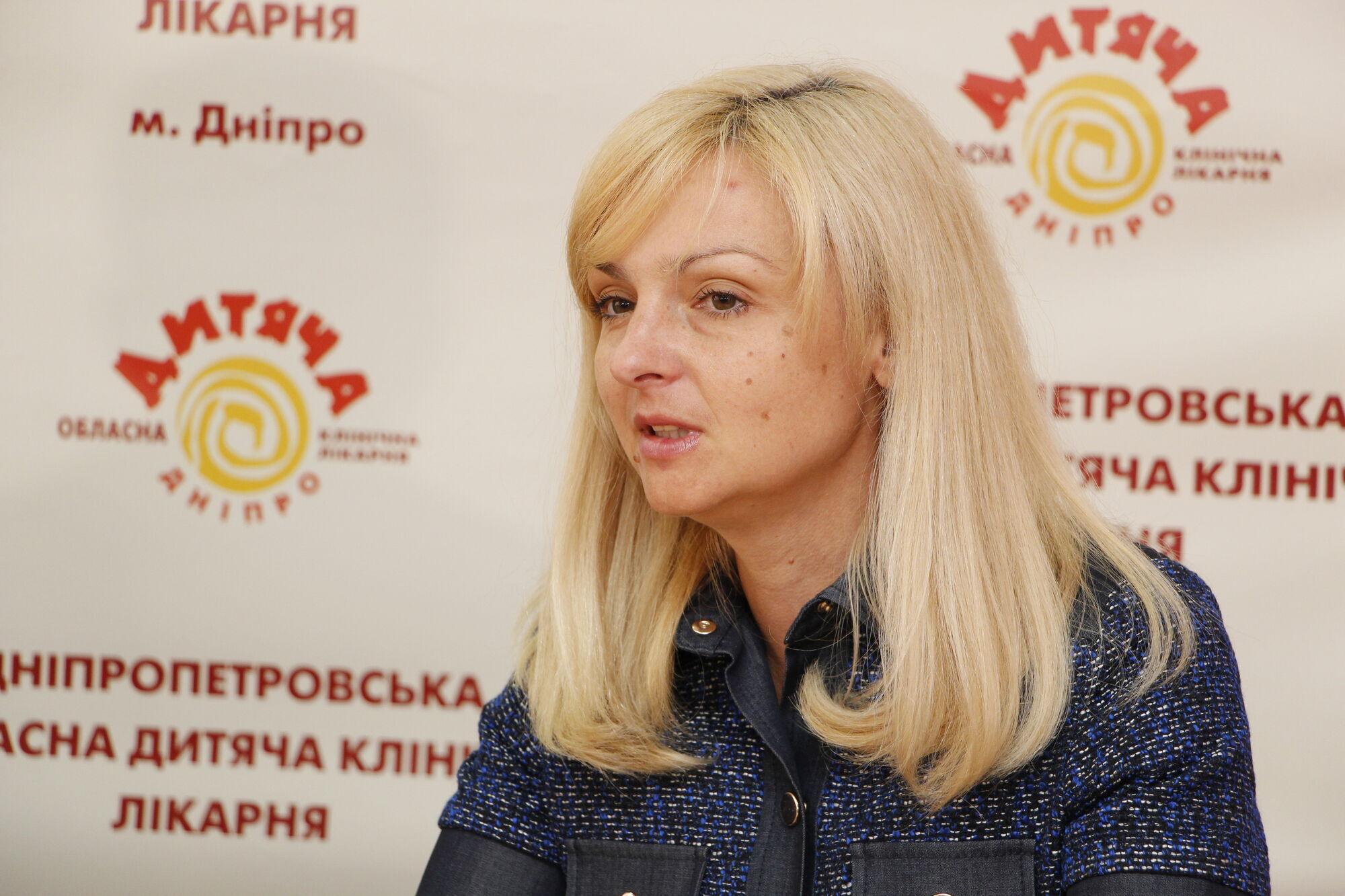 Заместитель председателя Днепропетровской ОГА Ольга Горб