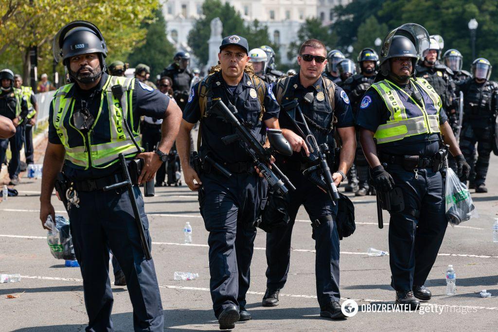 Полиция на улицах Вашингтона