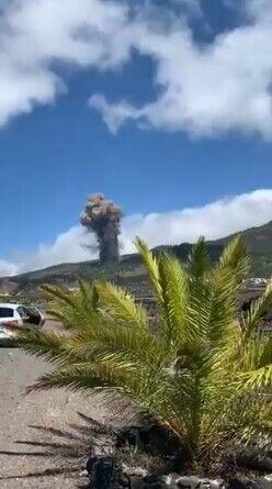 Землетрясения на Ла-Пальме спровоцировали извержение вулкана