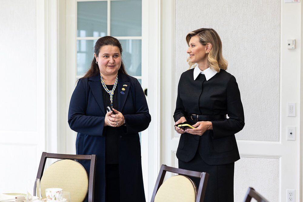 Елена Зеленская на встрече в США