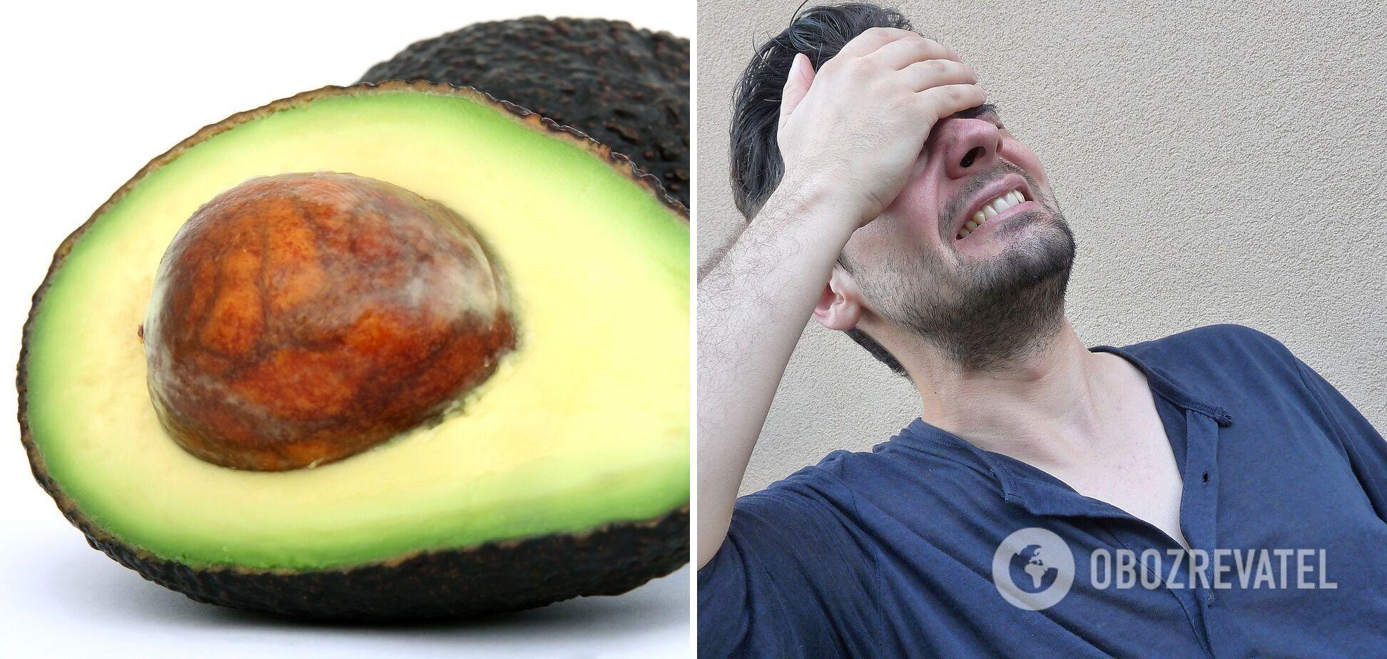 Від авокадо може бути мігрень