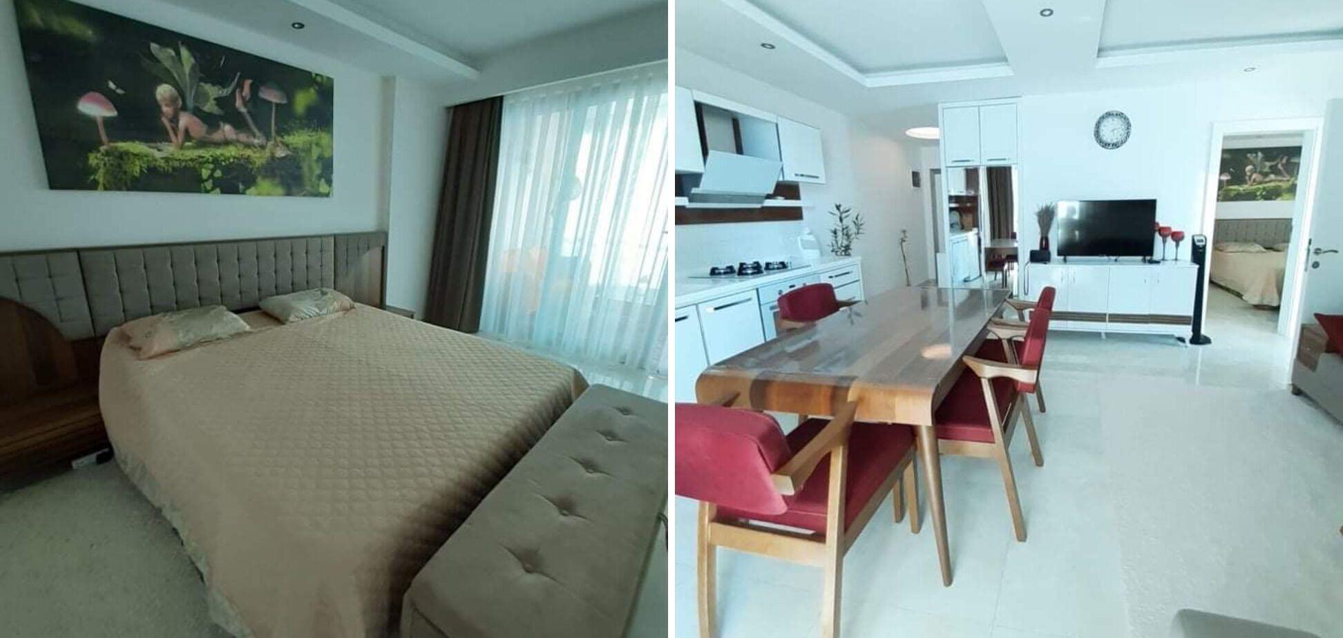 Апартаменты формата 1+1, то есть с большой кухней-студио и отдельной спальней, можно снять самостоятельно через интернет.