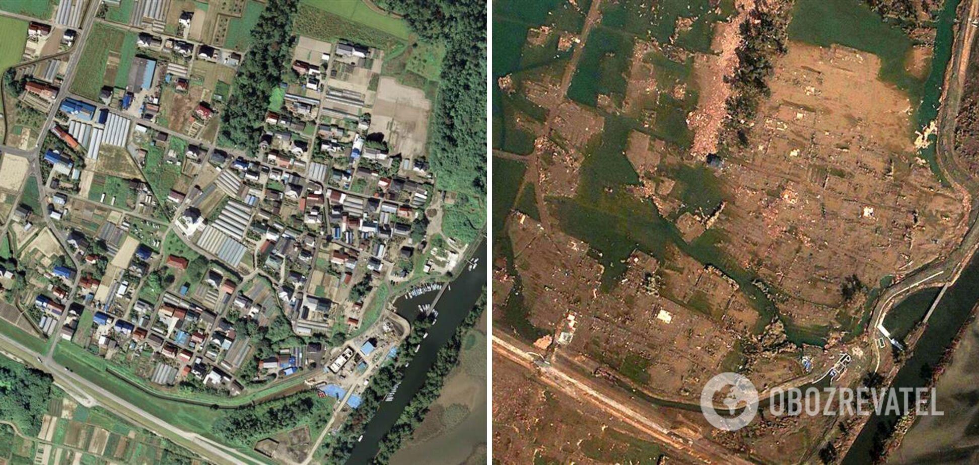Последствия землетрясения и цунами в Японии.