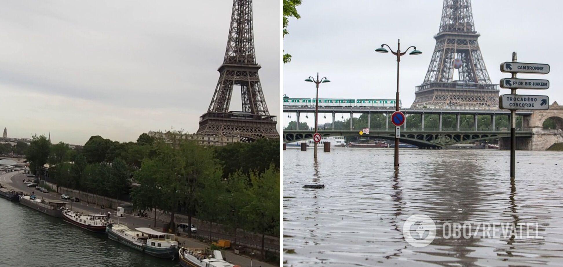 Наводнение в Париже в 2016 году.