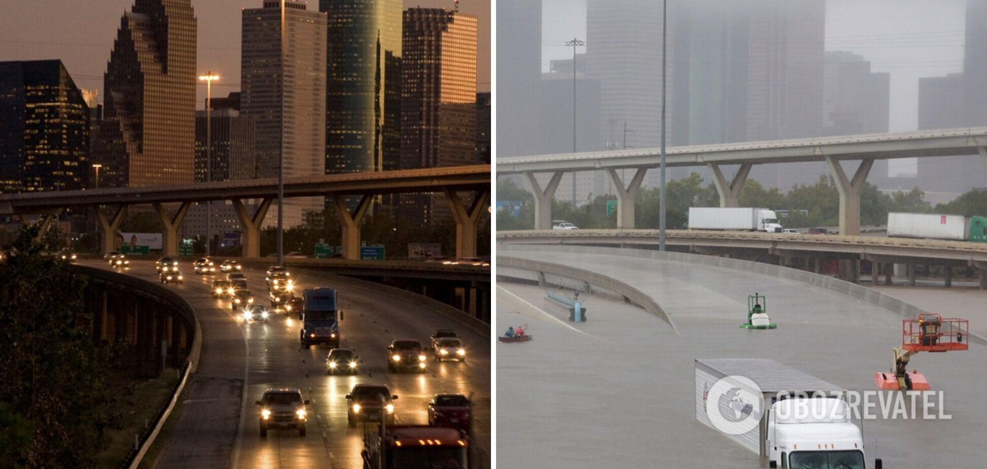 Город Хьюстон в США оказался под водой.