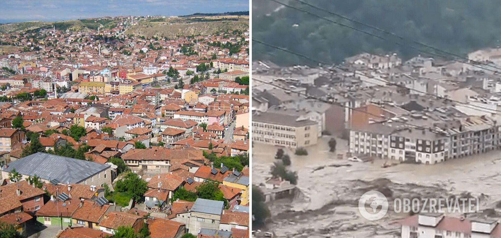 Наводнение в Турции в городе Кастамону.