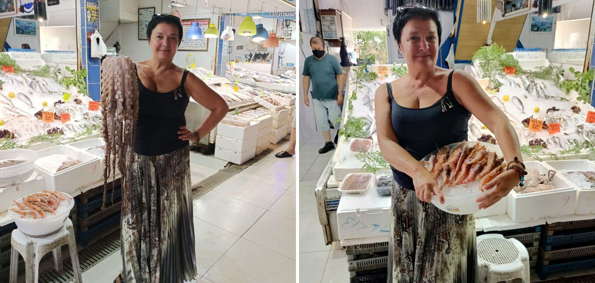 За морепродуктами лучше ездить на рынок в Аланию, советует Татьяна.